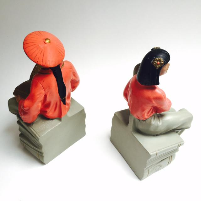 Mid-Century Asian Figurative Bookends - A Pair - Image 3 of 3