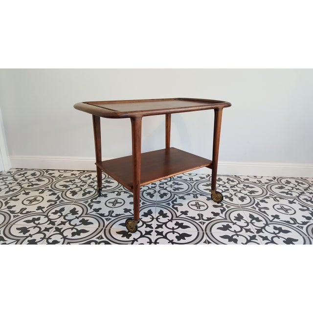 Mid-Century Danish Niels Moller Rosewood Trolley Cart For Sale - Image 10 of 13