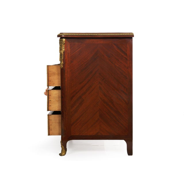 19th Century 19th Century French Antique Dressing Table Commode Chest of Drawers For Sale - Image 5 of 13