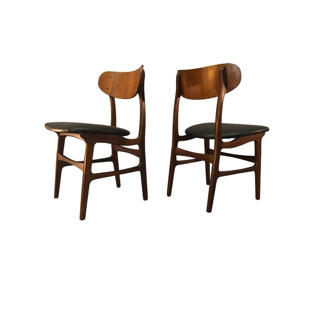 Danish Teak Round Back Dining Chairs - Set of 6 For Sale - Image 10 of 13