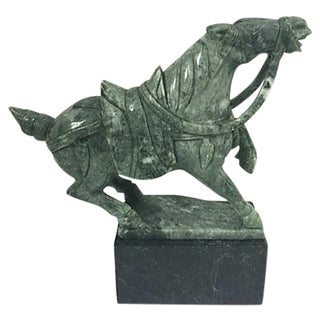 Hand Carved Jade Horse Sculpture For Sale