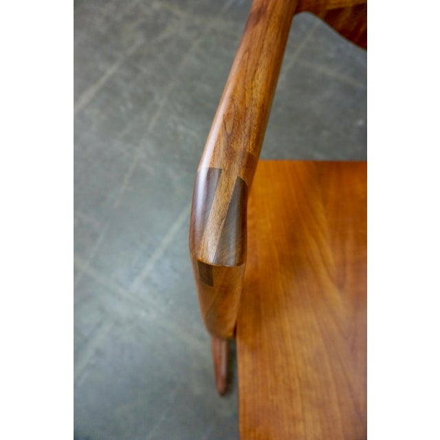 Hand Crafted Walnut Rocking Chair For Sale - Image 4 of 7