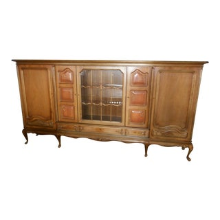 1940s Louis XV Queen Anne Maple Wall Unit For Sale