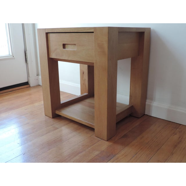 Asian Minimalist Japanese Nightstand For Sale - Image 3 of 8