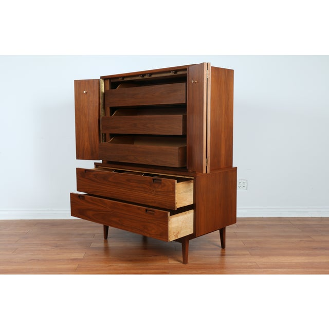 Highboy Dresser by American of Martinsville - Image 5 of 9