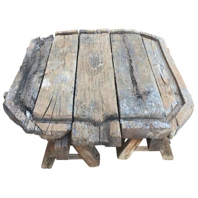 Antique French Wine Press Coffee Table - Image 1 of 3