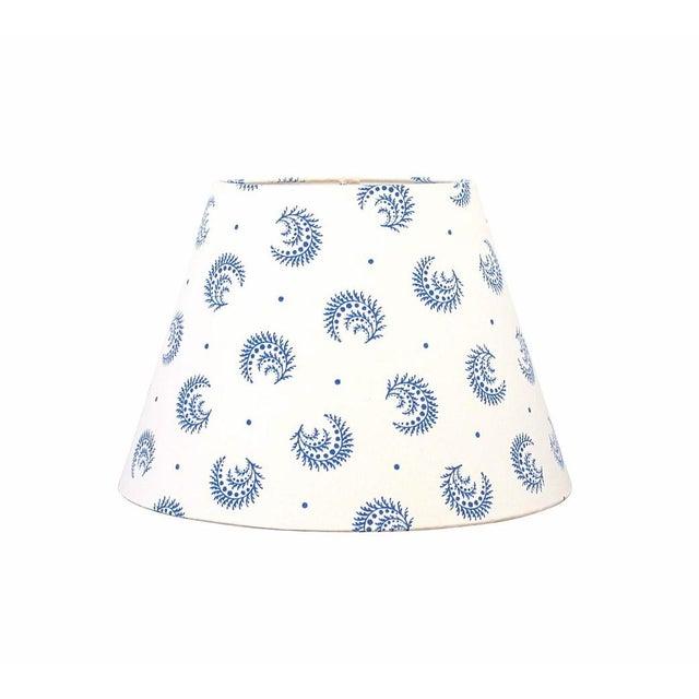 China Blue Desmond Sister Parish Fabric Lamp Shade For Sale - Image 4 of 4