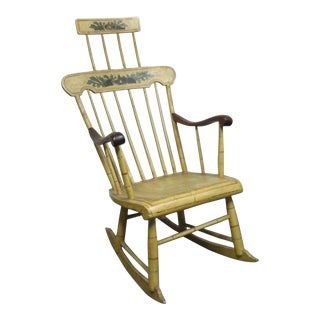 Mid 19th Century Windsor Paint Decorated Rocker For Sale