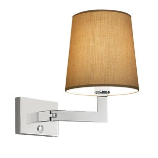 Polished Chrome Wall Light With Swivel Hinge For Sale