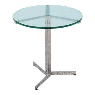 Swiss Mid-Century Modern Hans Eichenberger for Strassle Alpha Round Side Table For Sale