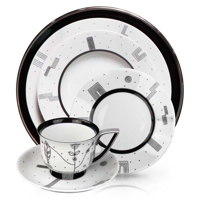 """New, original 1929 design """"Mythos"""" coffee cup with saucer, part of the """"Mythos"""" collection designed by Josef Hoffmann in a..."""