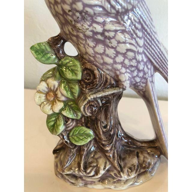 Ceramic Italian Ceramic Palm Beach Cockatoo Birds - a Pair For Sale - Image 7 of 11