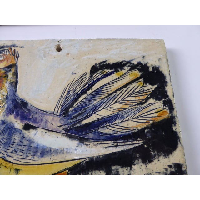 Ceramic 1950s Swiss Modern Pottery Wall Plaques by Philippe Lambercy - Set of 3 For Sale - Image 7 of 13