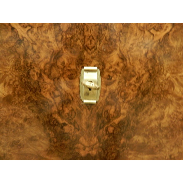 1940's Large French Walnut Enfilade by Maurice Rinck For Sale - Image 9 of 12