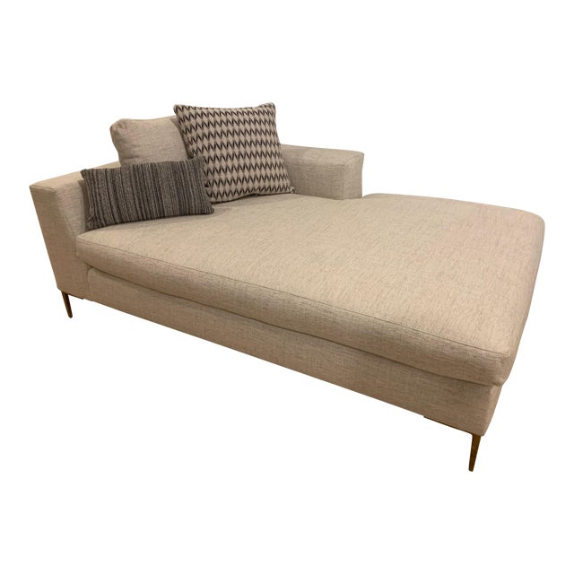 Century Roma Right Arm Facing Chaise For Sale