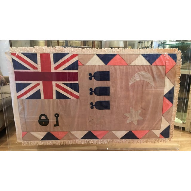 Antique British Colony Flag in Lucite Frame - Image 2 of 4