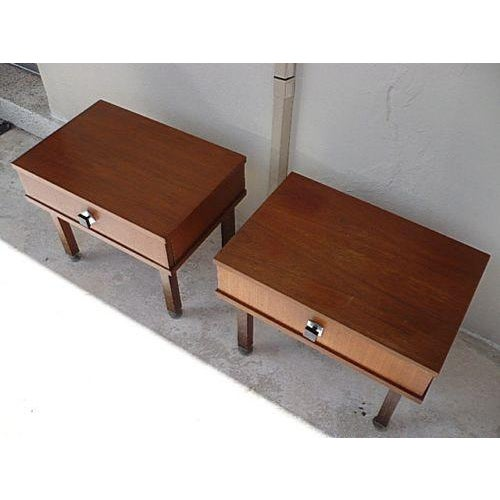 1960s 1960s Danish Modern Rosewood Nightstands - a Pair For Sale - Image 5 of 9