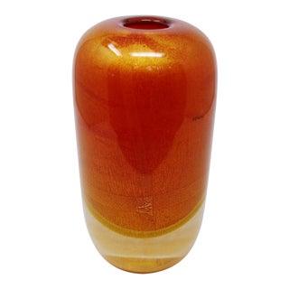 Venini - Sommerso Oro Vase by Venini For Sale