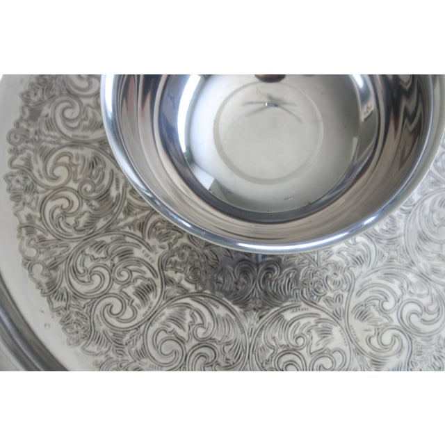 Victorian Oneida Wm. A Rogers Silver Chip and Dip Tray For Sale - Image 3 of 6