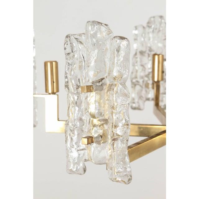 Italian Italian Glass Pendant With Kalmar Textured Glass Shades For Sale - Image 3 of 10