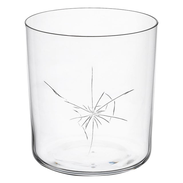"Glass ""Neo Crack"" a Tumbler by Murray Moss For Sale - Image 7 of 7"