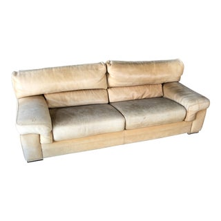Roche Bobois Thick Leather (Nubuck) Sofa For Sale