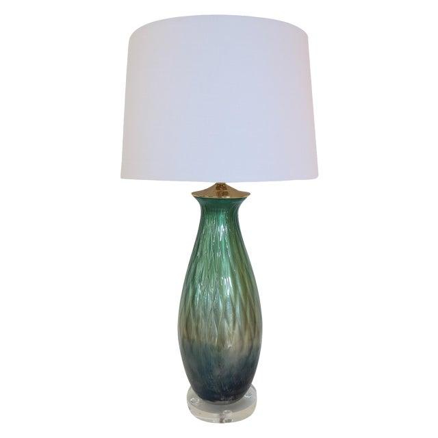Tri-Color Mercury Glass Lamp - Image 1 of 6