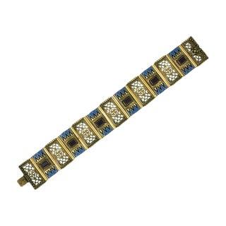 Art Deco Czech Enamel Bracelet, 1930s For Sale