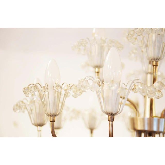 Silver Large Mid Century Chandelier by Emil Stejnar for Rupert Nikoll For Sale - Image 8 of 9