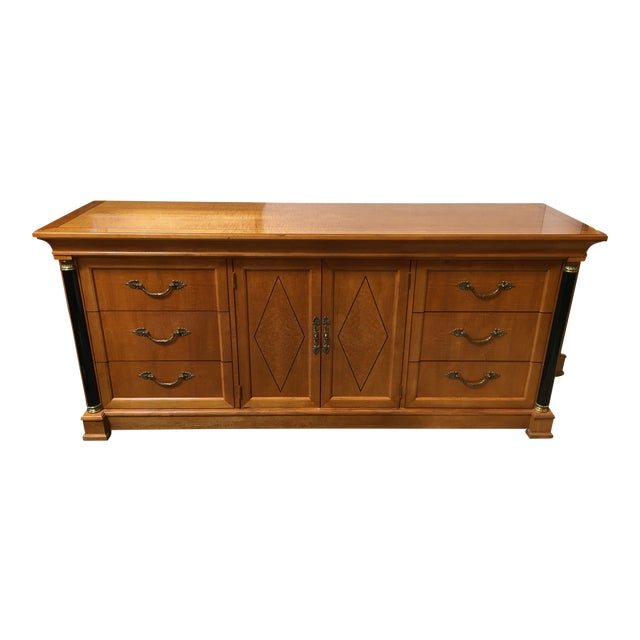 Thomasville Neoclassical Wood Credenza For Sale