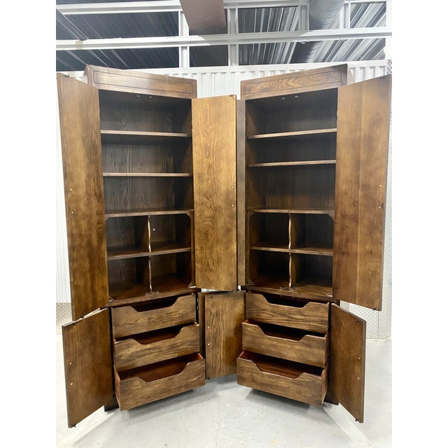 Henredon Vintage Henredon Campaign Chifforobe- a Pair For Sale - Image 4 of 11