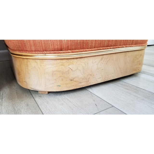 Wood Milo Baughman for Lane Burl Wood Base Slipper Lounge Chairs - a Pair For Sale - Image 7 of 12