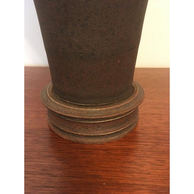 Ceramic Vintage Japanese Chinese Oriental Ceramic Pottery Jar Urn For Sale - Image 7 of 13