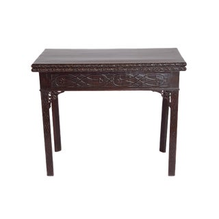 Mid-18th Century Early George III Mahogany Card Table For Sale