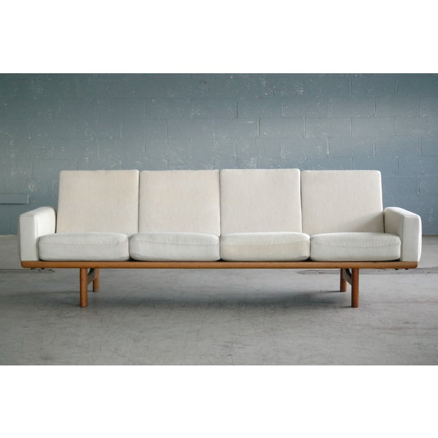 Beautiful Hans Wegner four seat sofa model GE236/4 designed by Wegner for Getama in 1955 and likely manufactured sometime...