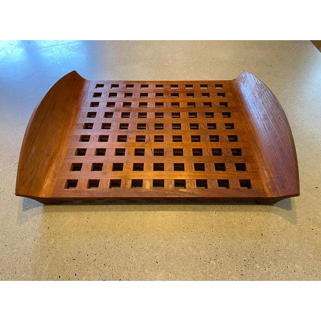 Dansk Vintage Jens Quistgaard for Dansk Teak Lattice Tray For Sale - Image 4 of 8