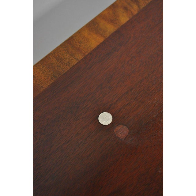 Late 20th Century Baker Banded Mahogany Dropleaf Hall or Sofa Table For Sale - Image 5 of 13