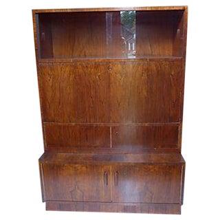 Mid-Century Rosewood Secretary Writing Desk For Sale