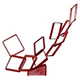 Image of 1990s Contemporary Red Metal Abstract Table Sculpture Signed Cynthia McKean For Sale