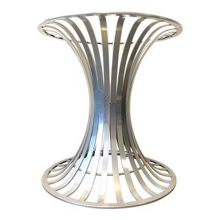 Russell Woodward Brushed Aluminum Table Base