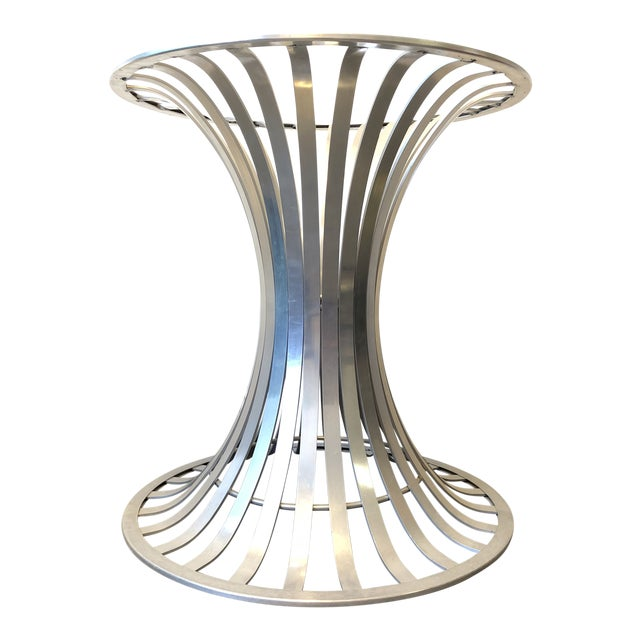 Russell Woodward Brushed Aluminum Table Base Chairish - Brushed aluminum table base