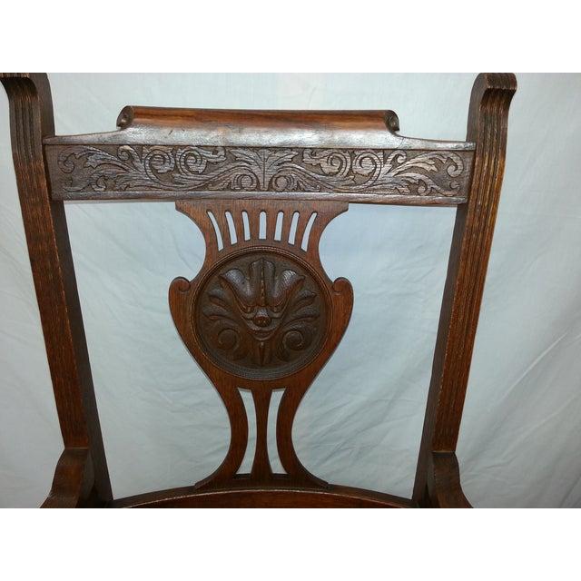 Victorian Irish Green Man Face Throne Chair - Image 8 of 9