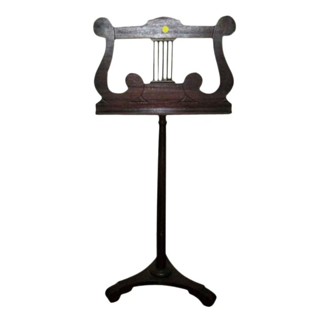 Tindale Carved Mahogany Music Stand For Sale