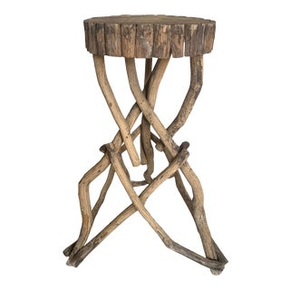 1890-1900 Adirondack Twig Side Table For Sale