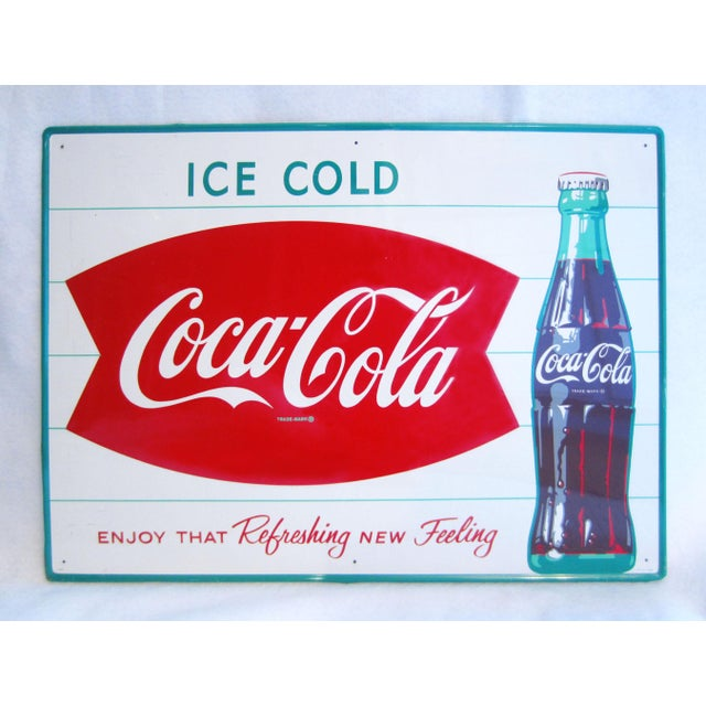 Vintage Coca-Cola Advertising Sign - Image 8 of 8