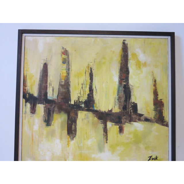Cityscape Painting by Zuck For Sale In Cincinnati - Image 6 of 8