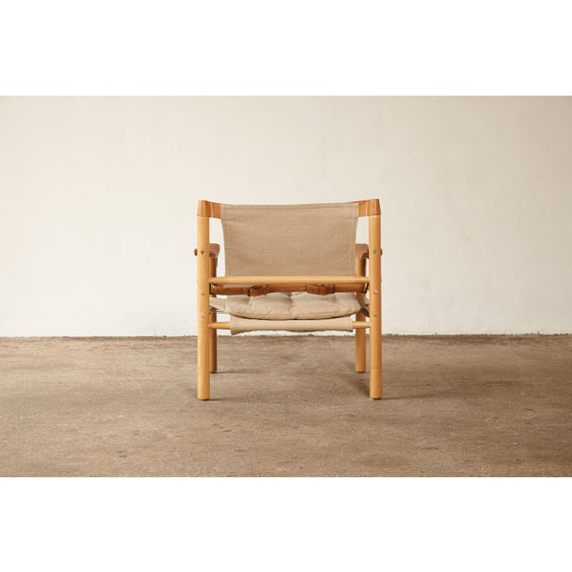1970s Mid-Century Modern Arne Norell Safari Sirocco Lounge Chair For Sale - Image 9 of 12
