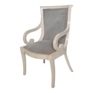 Modern Hollywood Enrique Garcel Karl Springer Bone Tile Chair For Sale