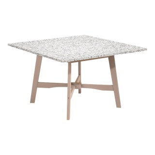 Wooden Outdoor Dining Table, Weathered Wood and Ash For Sale