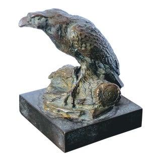 Bronze Eagle Bird Usa Symbolic Miniature Sculpture For Sale